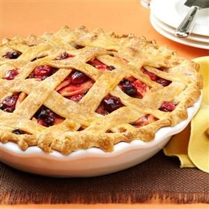 Cranberry-Apple Lattice Pie Recipe