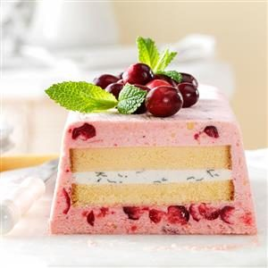 Cranberry-Lime Semifreddo with Pound Cake Recipe