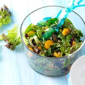 Cranberry Mandarin Salad with Walnut Vinaigrette Recipe