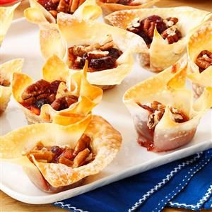 Cranberry-Pecan Brie Cups