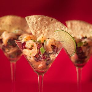 Cranberry Shrimp Ceviche Cups Recipe