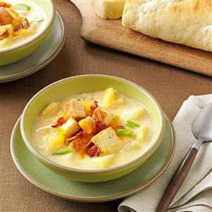 Cream of Potato & Cheddar Soup Recipe