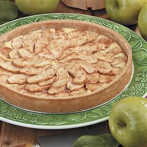 Creamy Bavarian Apple Tart Recipe