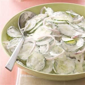 Creamy Dilled Cucumber Salad Recipe