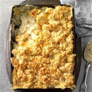 Creamy Green Chile Chicken Cobbler Recipe
