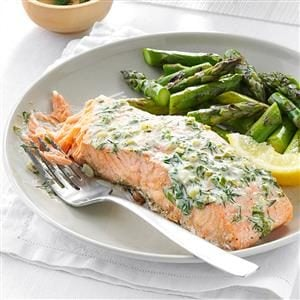 Creamy Herb Grilled Salmon Recipe