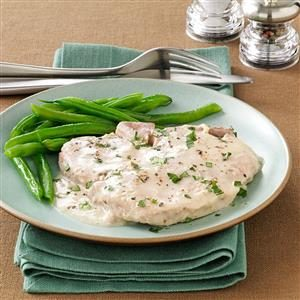 Creamy Onion Pork Chops