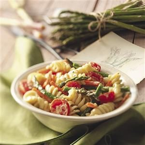Creamy Pasta Primavera for Two Recipe