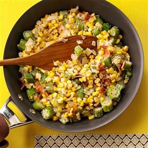 Creamy Sweet Corn with Okra Recipe