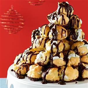 Patisserie Week: Creme de Menthe Cream Puff Tree