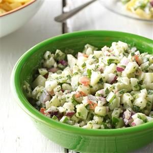 Watch Us Make: Crisp Cucumber Salsa