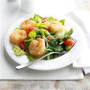 Crispy Shrimp Caesar Salad Recipe