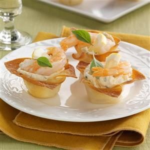 Crispy Shrimp Cups Recipe