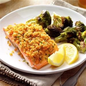 Crumb-Topped Salmon Recipe