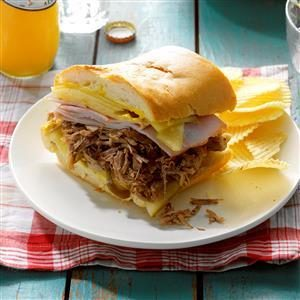 Pressure Cooker Cuban Pulled Pork Sandwiches Recipe