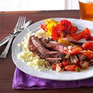 Cumin-Chili Spiced Flank Steak  Recipe