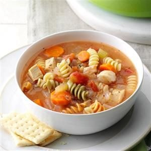 Curly Noodle Chicken Soup Recipe