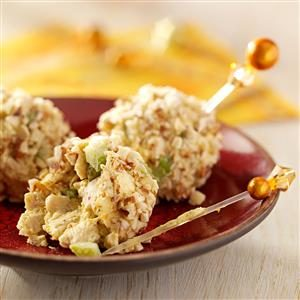 Curried Chicken Balls Appetizer Recipe