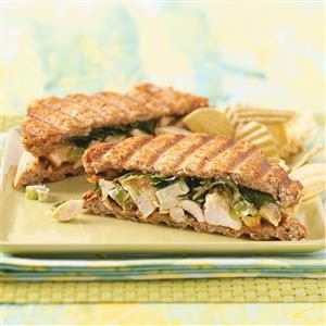 Curried Chicken Paninis for Two