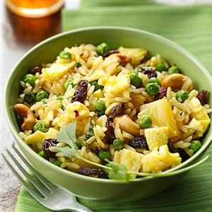 Curried Fried Rice with Pineapple Recipe