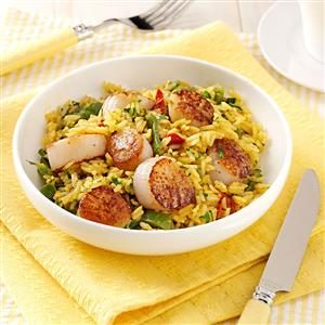 Curry Scallops and Rice Recipe