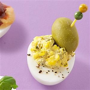 Dazzling Dirty Martini Deviled Eggs Recipe