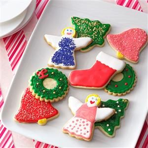 Decorated Sugar Cookie Cutouts Recipe
