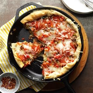 Deep-Dish Sausage Pizza