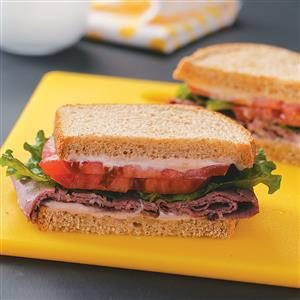 Deli Beef Sandwiches with Horseradish Mayonnaise