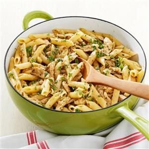 Delish Pesto Pasta with Chicken Marsala