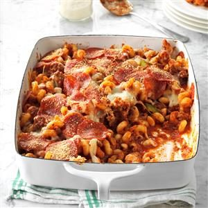Deluxe Pizza Casserole Recipe