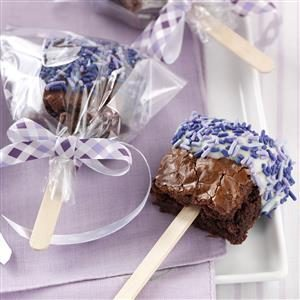 Dipped Brownie Pops