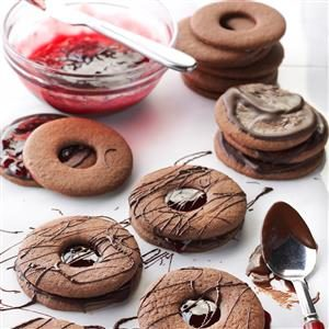 Double-Chocolate Linzer Tart Cookies Recipe