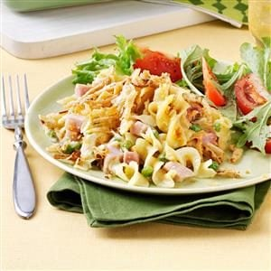 Double-Duty Ham & Noodle Bake Recipe