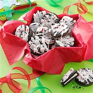 Drizzled Peppermint Cookies Recipe