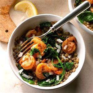 East Coast Shrimp and Lentil Bowls Recipe
