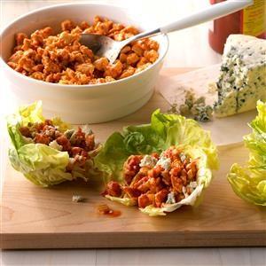 Easy Buffalo Chicken Lettuce Wraps Recipe