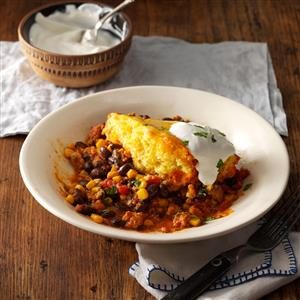 Easy Chicken Tamale Pie Recipe