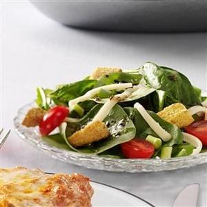 Easy Italian Spinach Salad Recipe