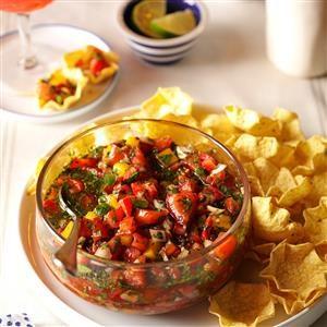 Easy Strawberry Salsa Recipe