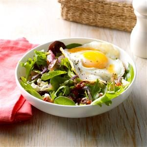 Egg-Topped Wilted Salad Recipe