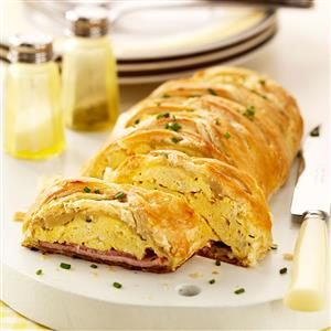 Eggs Benedict Brunch Braid Recipe
