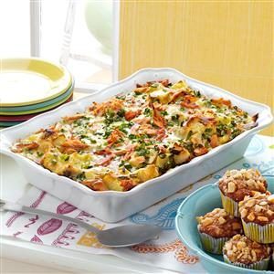 Elegant Smoked Salmon Strata Recipe