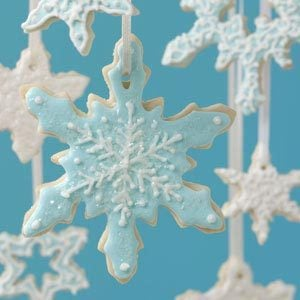 Snowflake Cookie Ornaments Recipe
