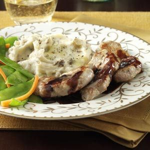 Pork Medallions with Raspberry-Balsamic Sauce Recipe