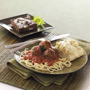 Marinara Turkey Meatballs Meal