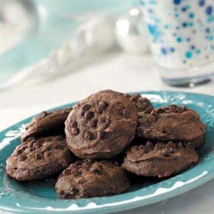 Low fat chocolate cookies recipe taste of home for Low fat chocolate biscuits