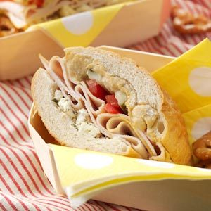 Hearty Turkey & Feta Sandwich