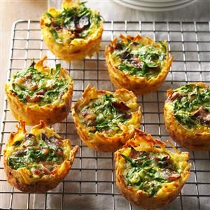 Hash Brown Quiche Cups Recipe