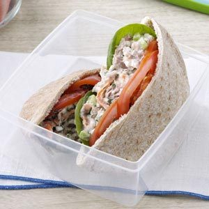 Garden Tuna Pita Sandwiches Recipe